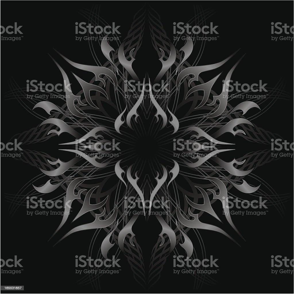 Ornate Metallic Flames royalty-free stock vector art