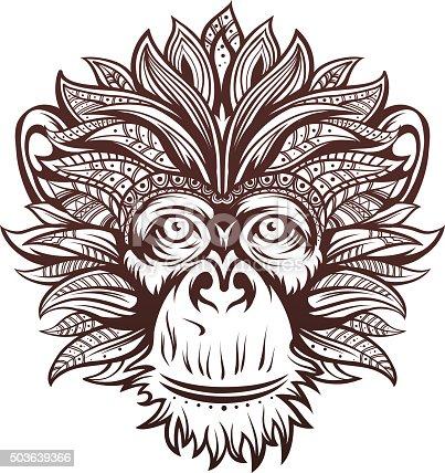 istock Ornate Monkey Head 503639366