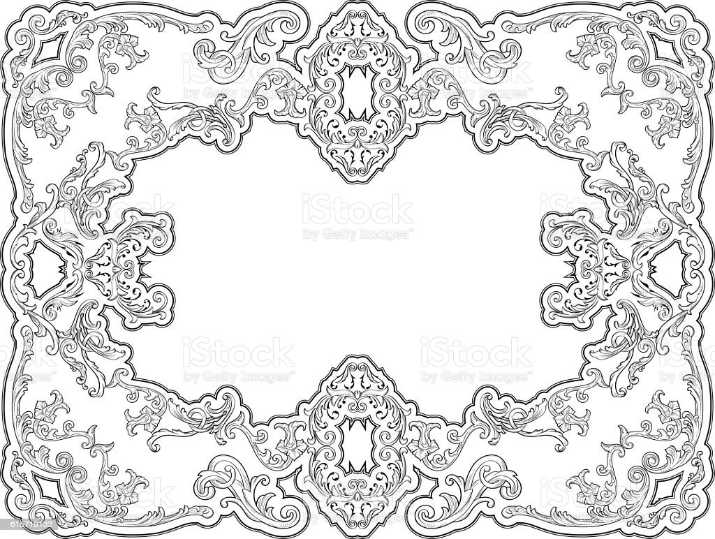 Ornate nice decor page vector art illustration