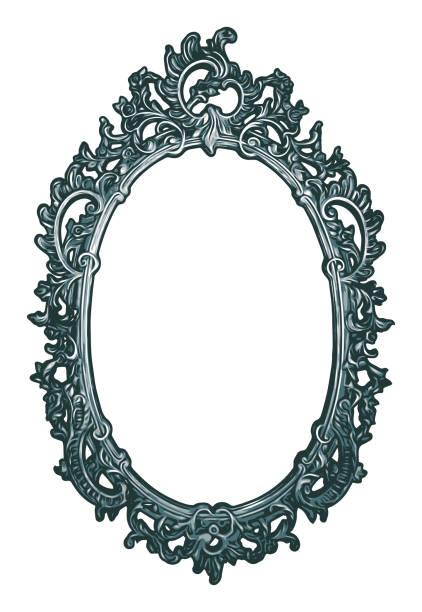 Ornate Oval Frame vector art illustration