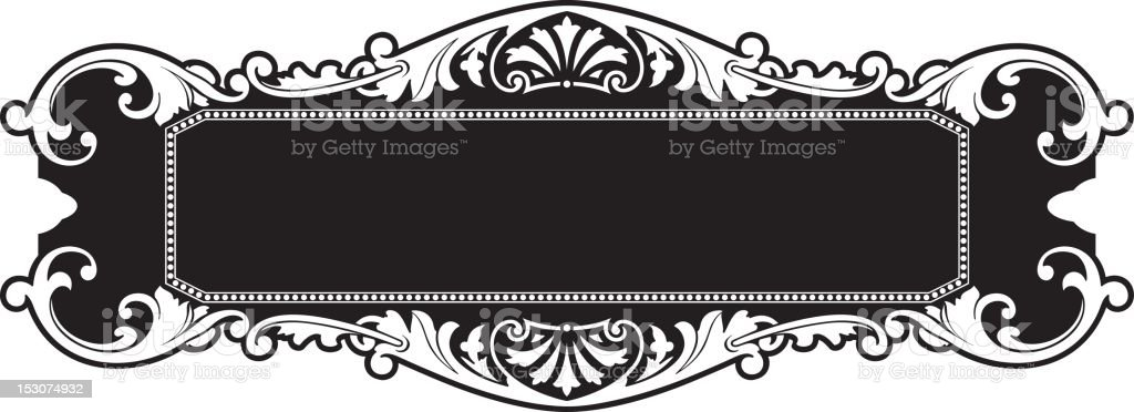 Ornate Panel Design - Vector royalty-free ornate panel design vector stock vector art & more images of black and white