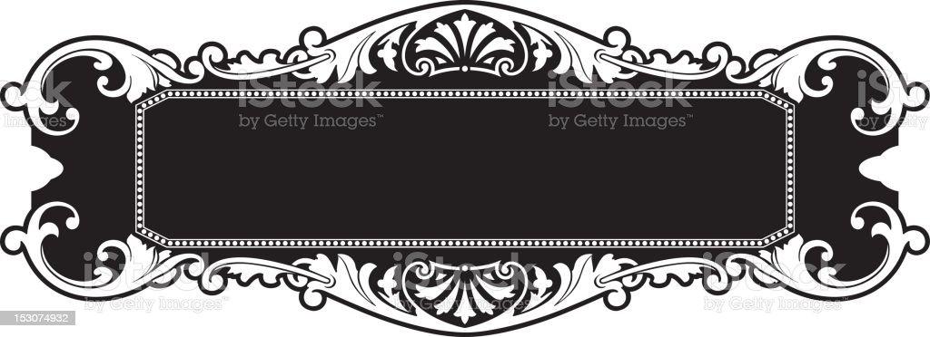 Ornate Panel Design - Vector vector art illustration