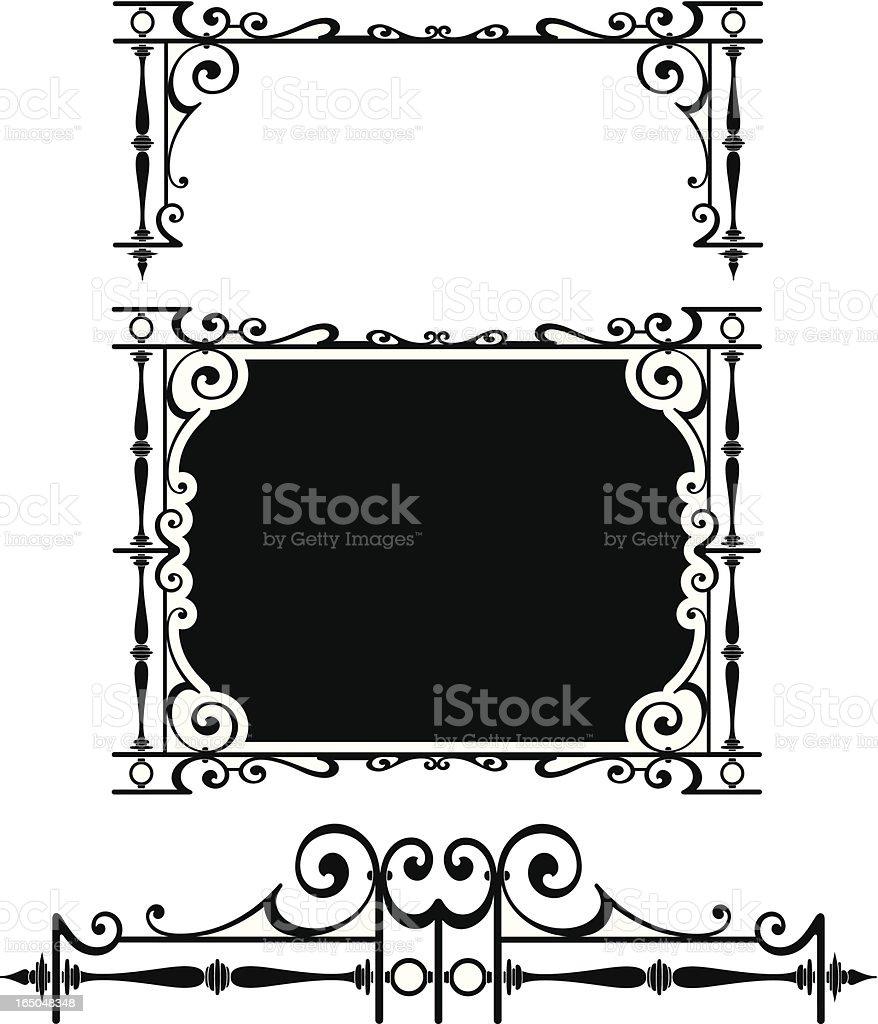 Ornate Panel Surround royalty-free stock vector art