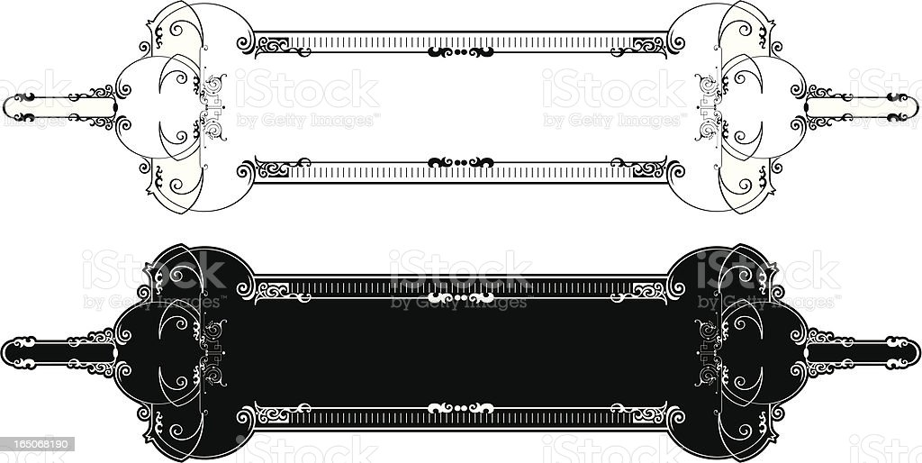 Ornate Panel vector art illustration