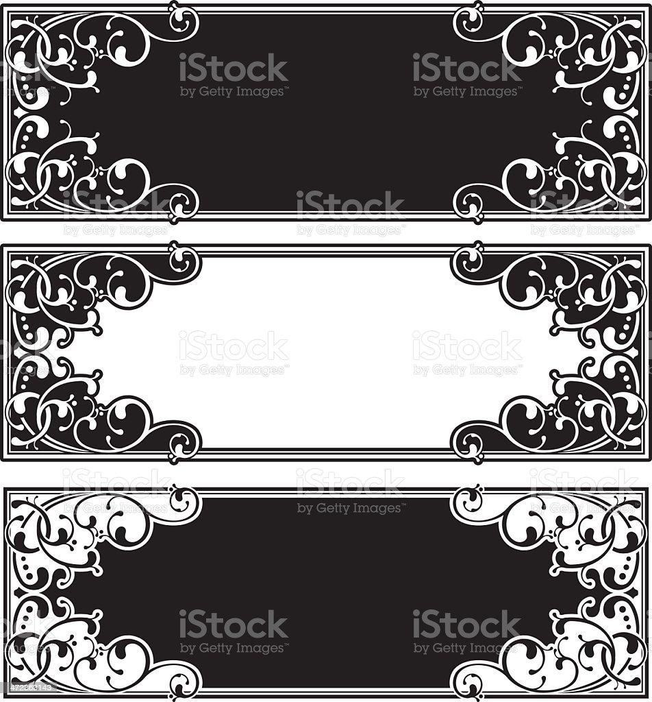 Ornate Panel royalty-free stock vector art