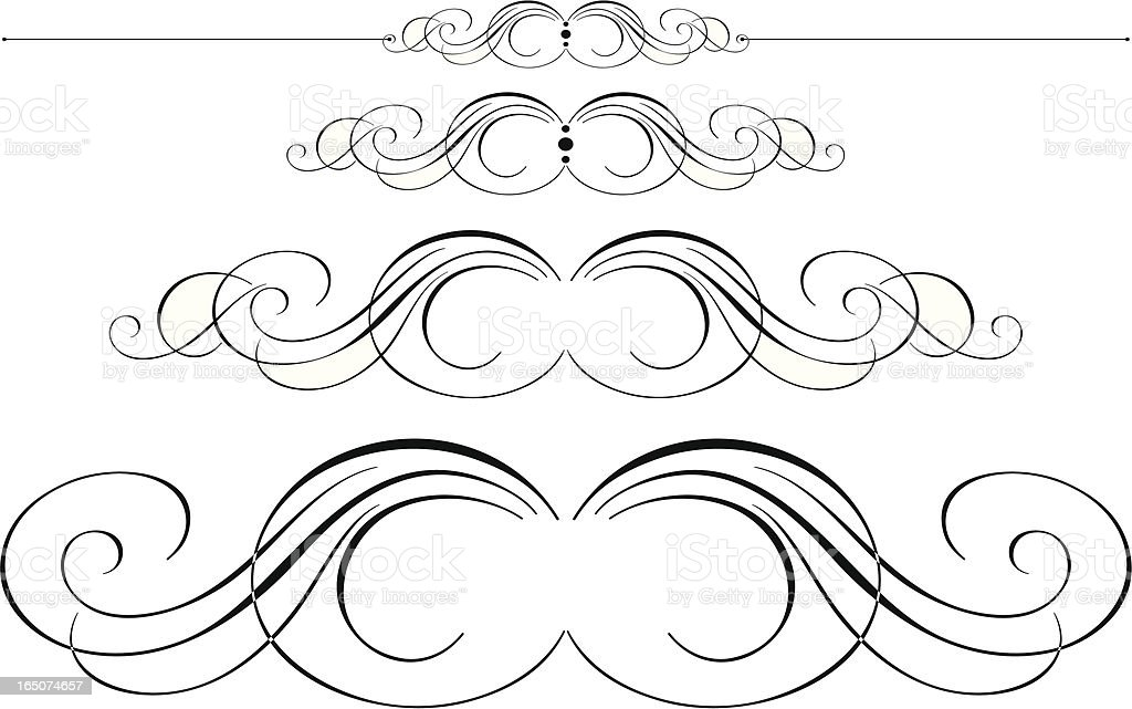 Ornate Pen Flourishes royalty-free ornate pen flourishes stock vector art & more images of art and craft
