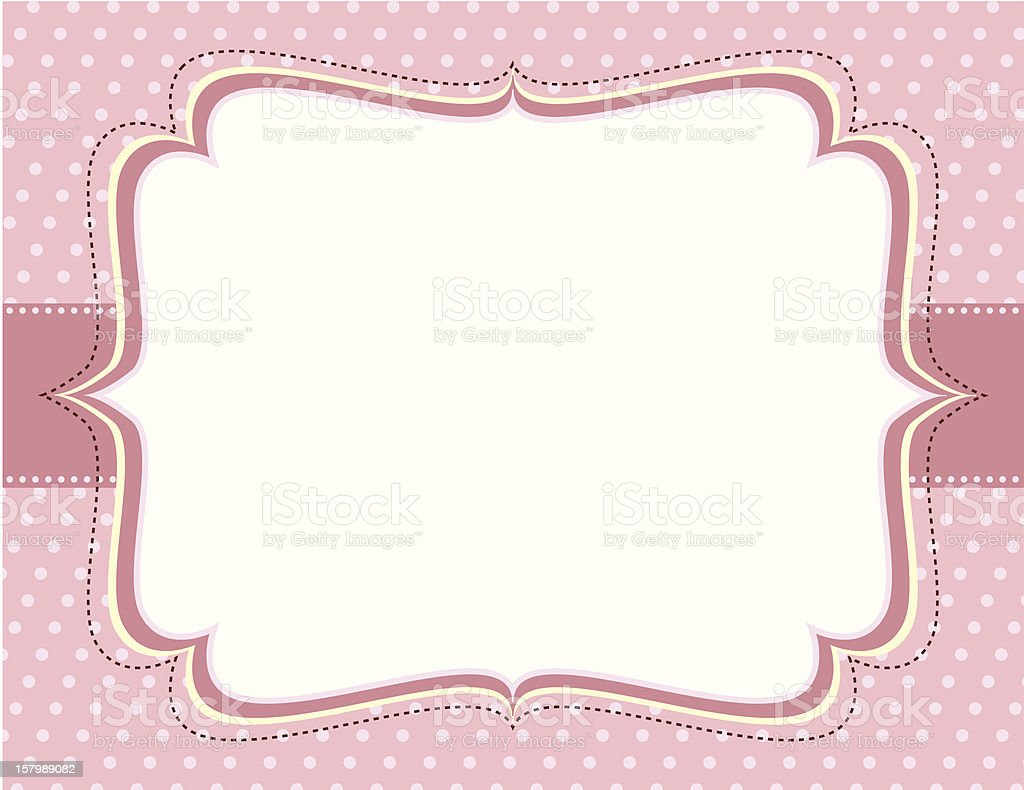 Ornate Pink Polka Dot Frame Stock Vector Art & More Images