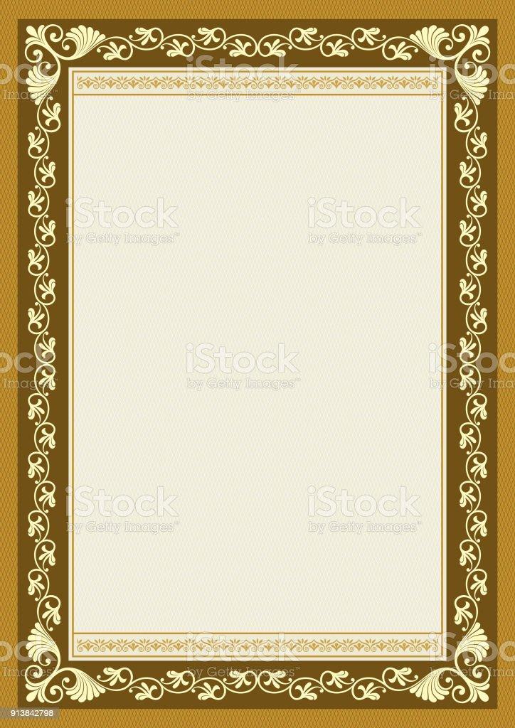 Reich Verzierte Rechteckigen Rahmen A4proportionen Book Cover ...