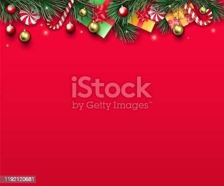 istock ornate red Christmas paper 1192120681