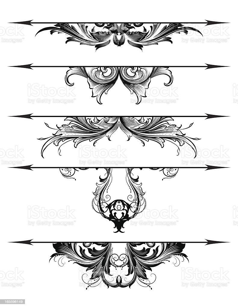 Ornate Rule Lines royalty-free stock vector art