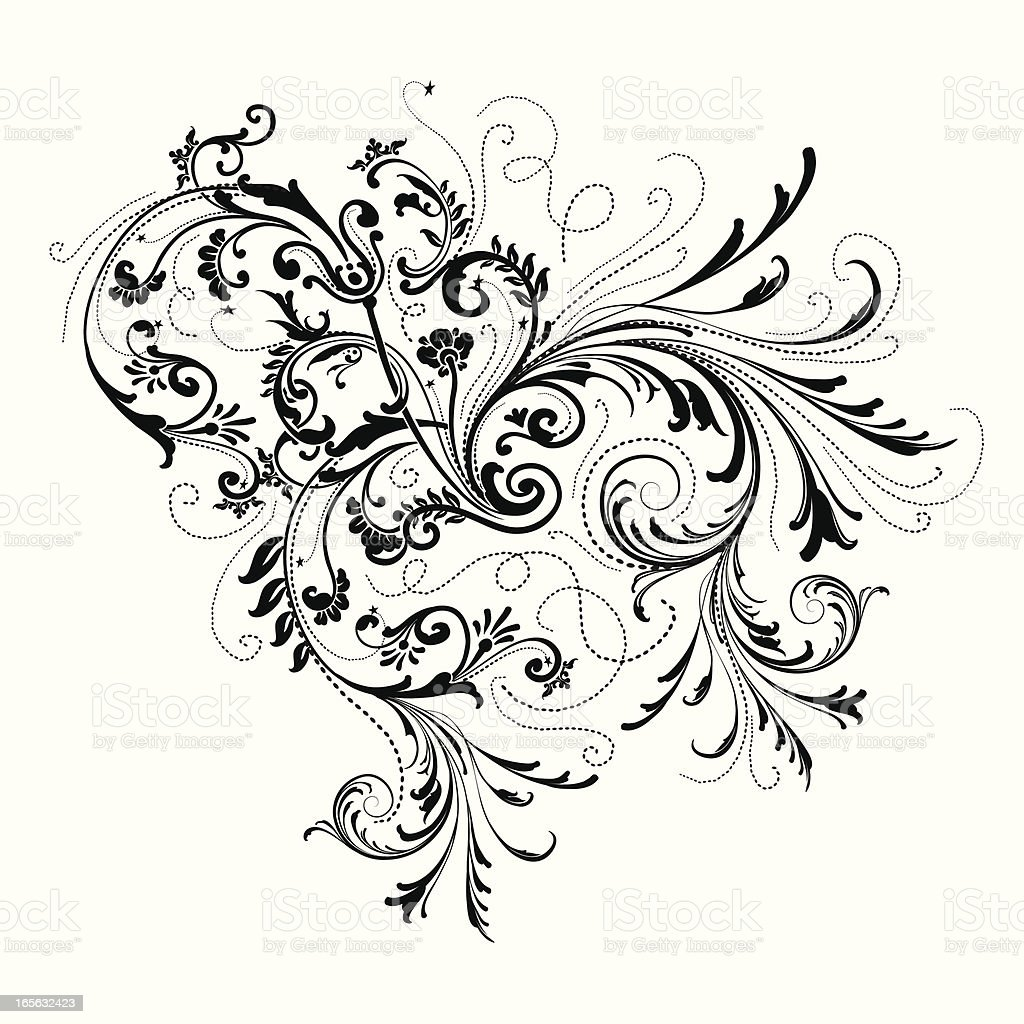 Ornate Scroll Element royalty-free stock vector art