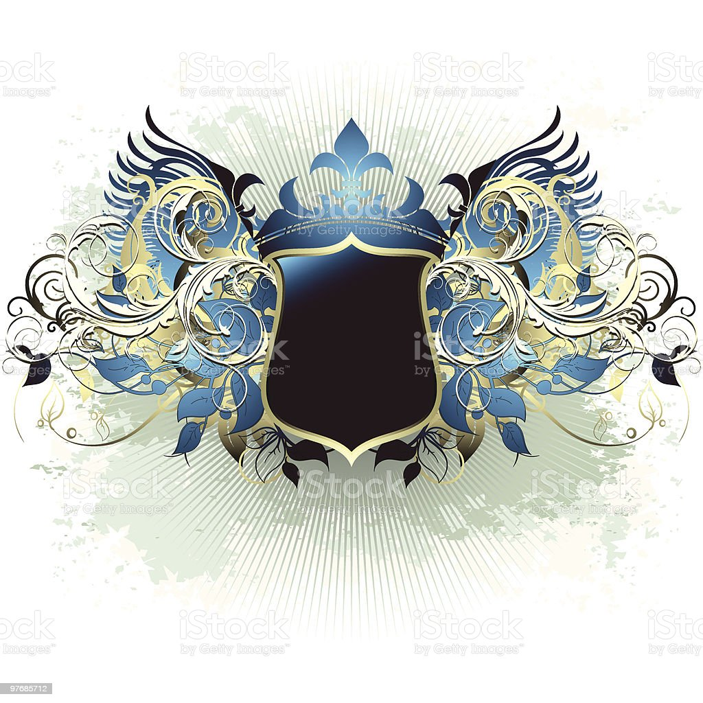 Ornate shield background royalty-free ornate shield background stock vector art & more images of backgrounds