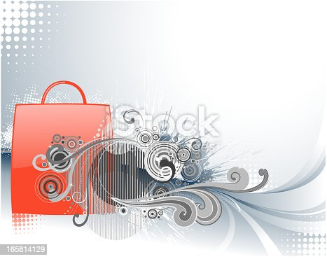 ornate shopping bag backround