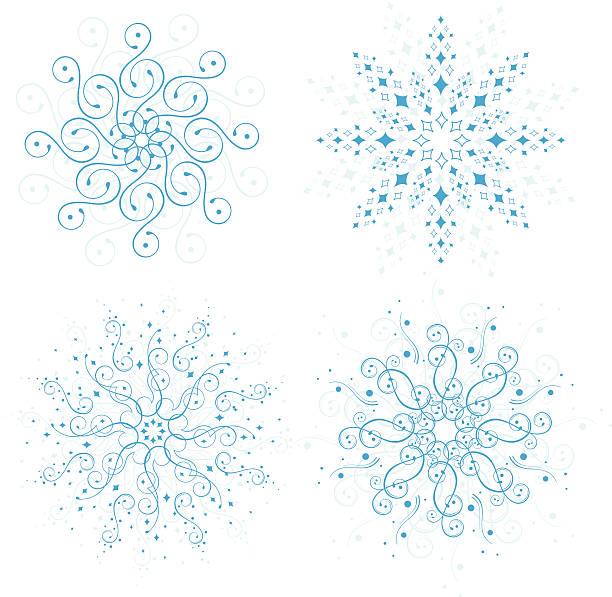 Ornate Snowflakes vector art illustration