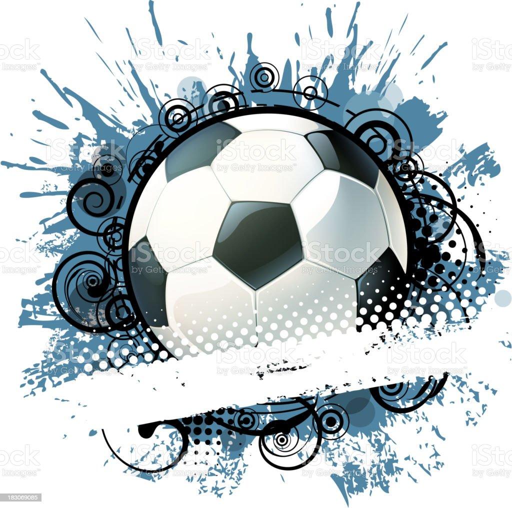 ornate soccer banner royalty-free stock vector art