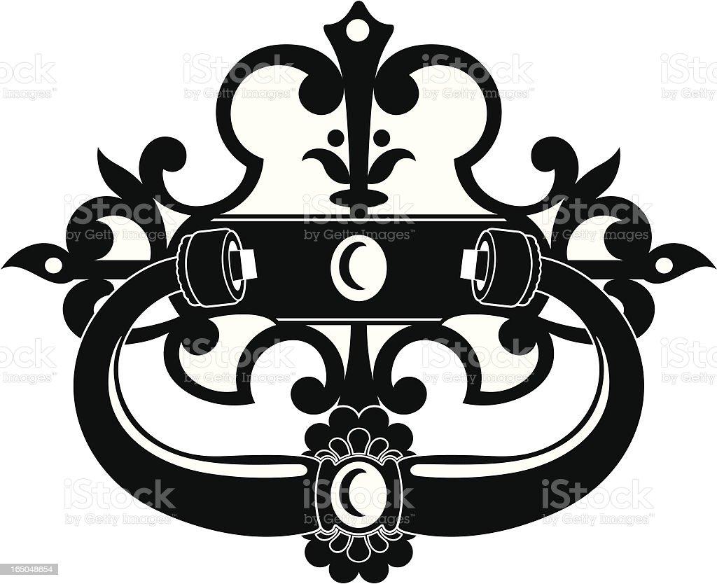 Ornate Spanish Door Knocker royalty-free stock vector art