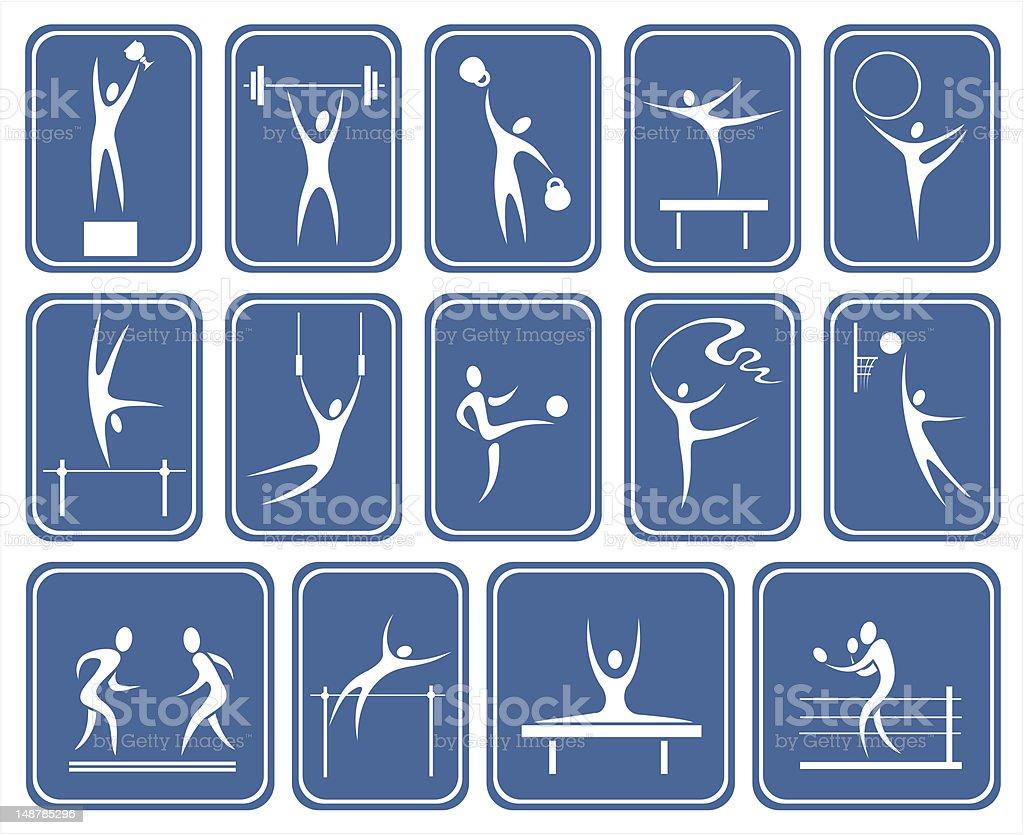 ornate sports symbols royalty-free stock vector art