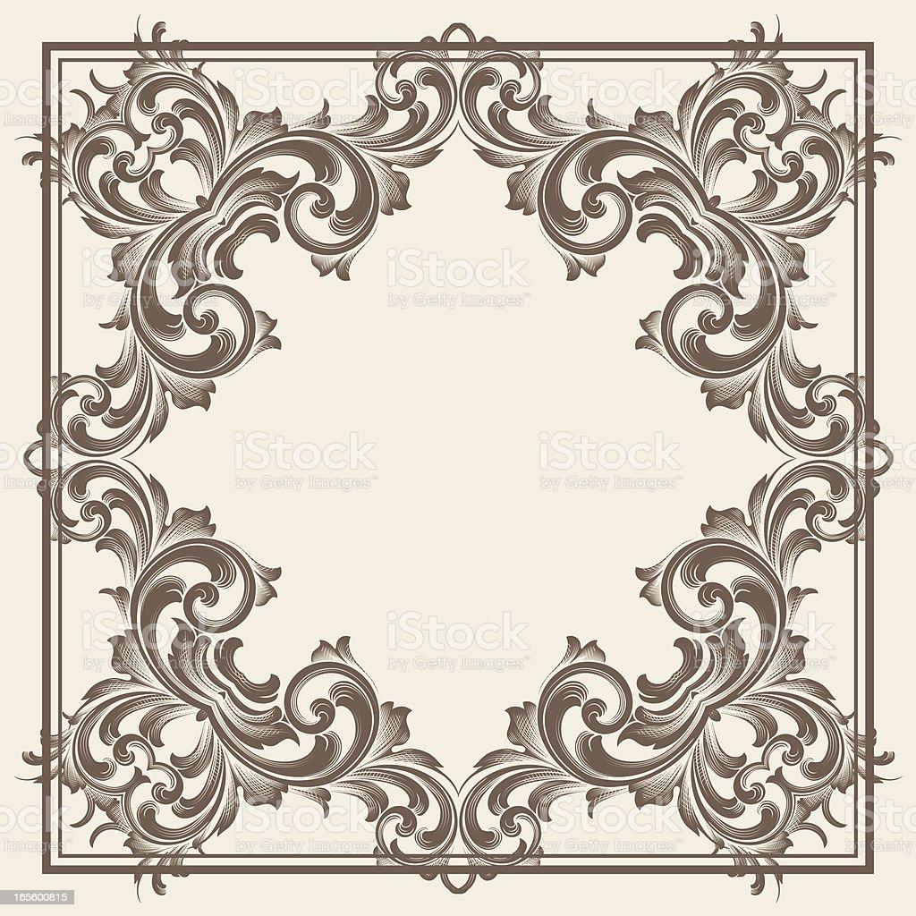 Ornate Square vector art illustration
