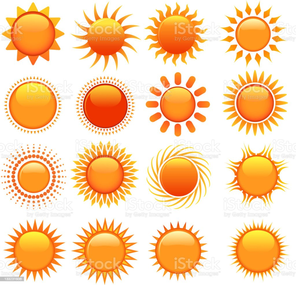 ornate sun symbols royalty-free stock vector art