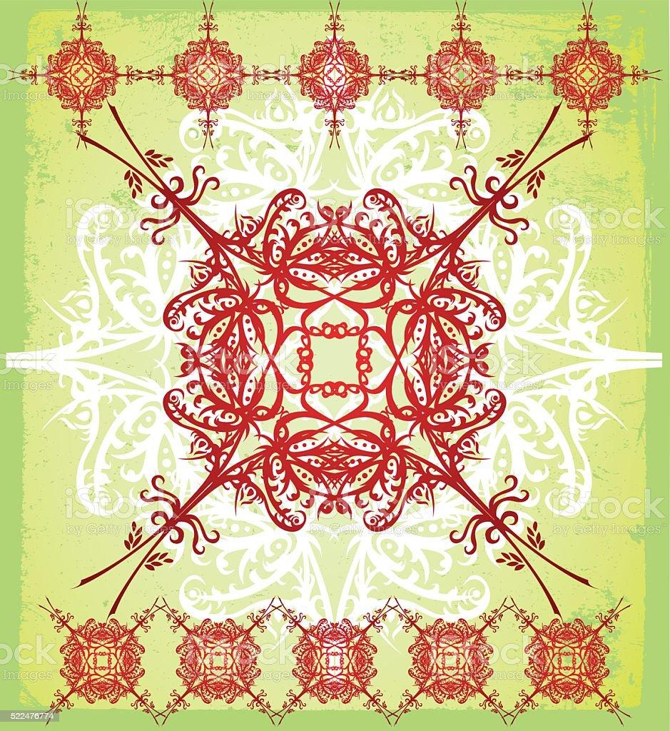ornate tapestry vector art illustration