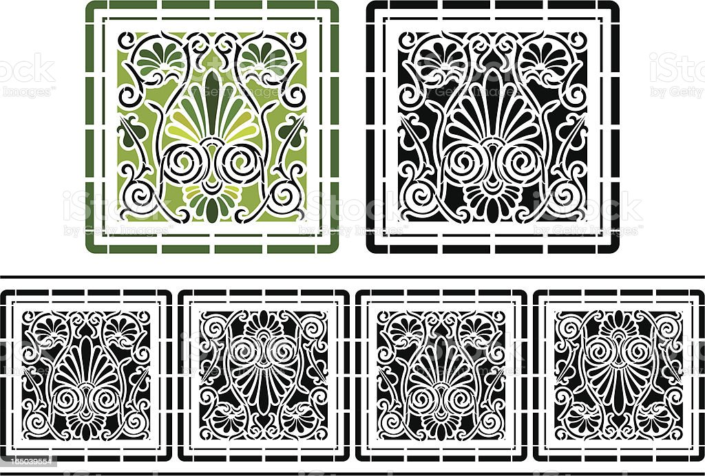 Ornate Tile and Friese royalty-free ornate tile and friese stock vector art & more images of backgrounds