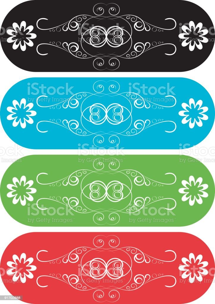 Ornate Vector Banners royalty-free stock vector art
