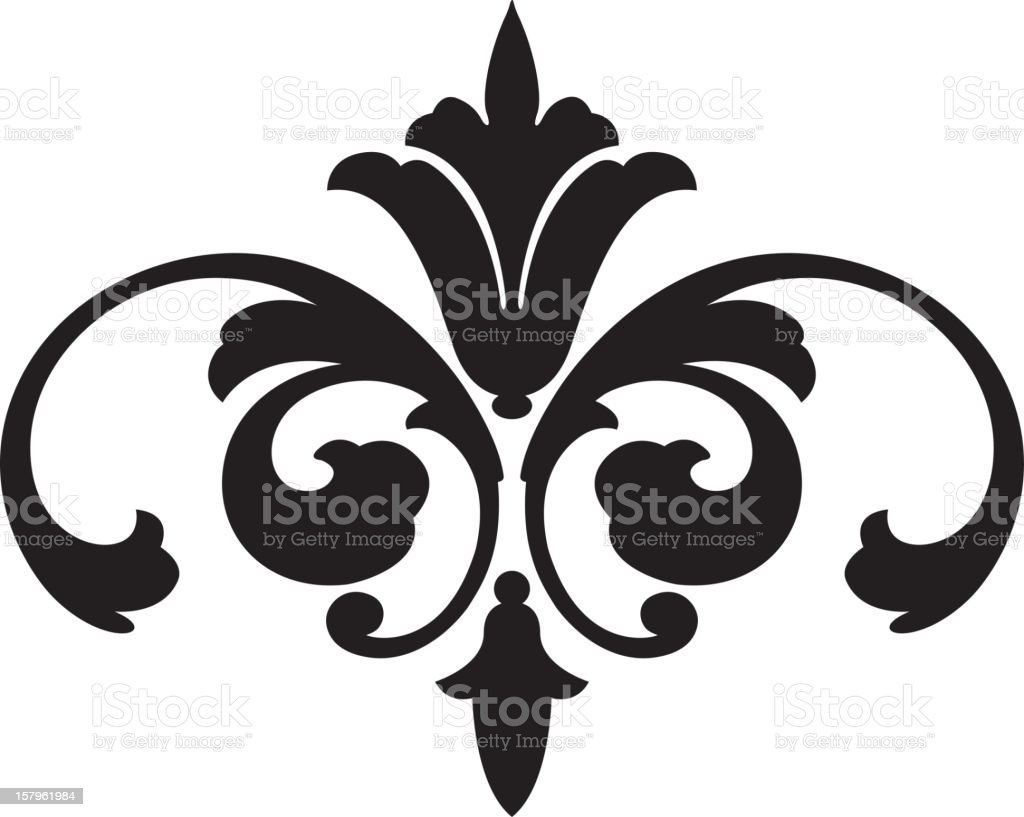 Ornate Vector Scroll royalty-free stock vector art