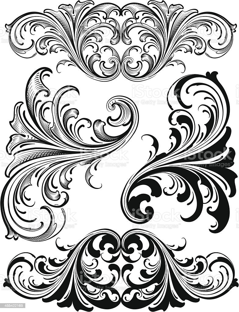 Ornate Victorian Scrolls engraving royalty-free ornate victorian scrolls engraving stock vector art & more images of 2000-2009