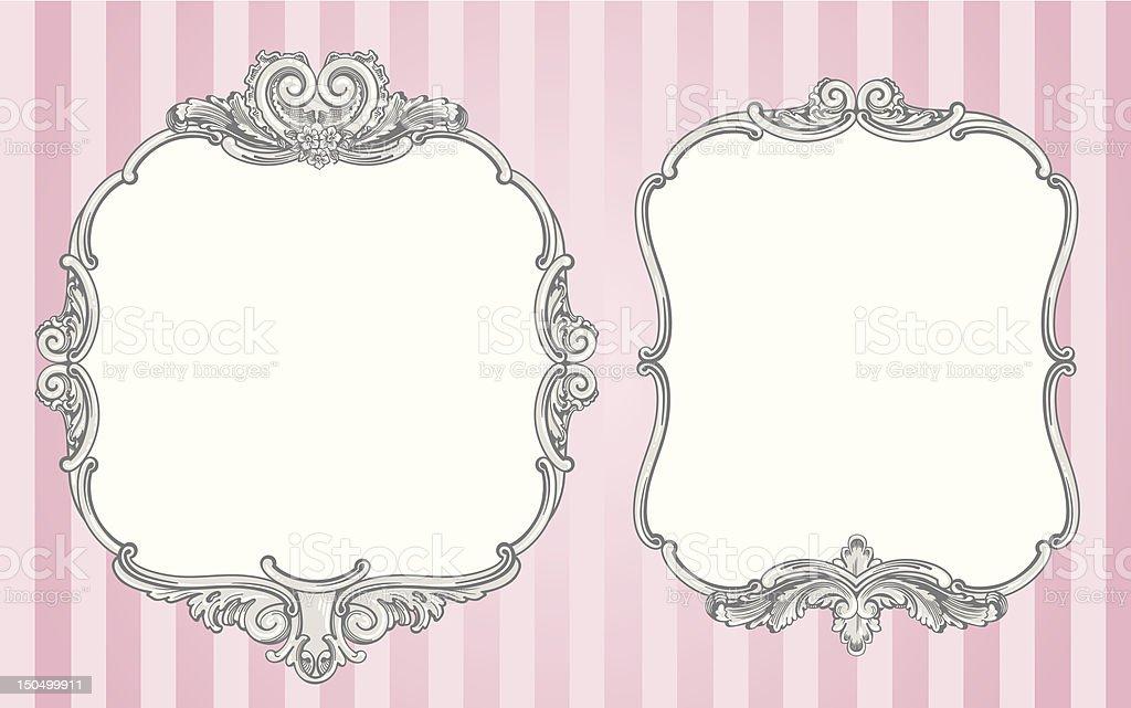 Ornate vintage frames vector art illustration