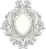 Ornate Vintage Hand-drawn Heraldry