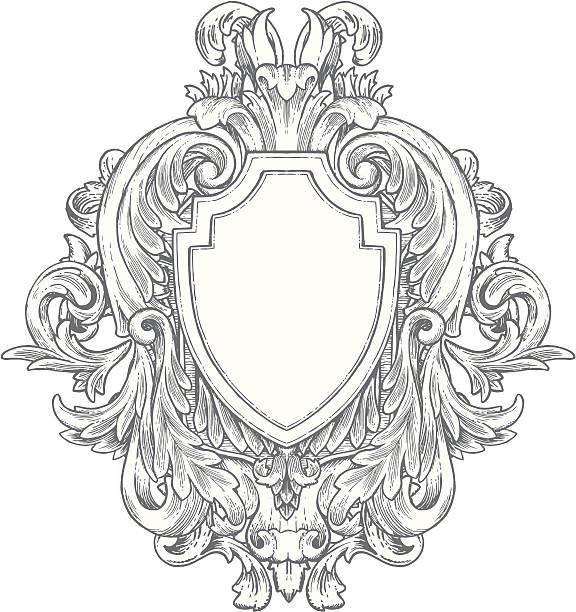 華麗なヴィンテージ手描きの部分 - ロココ調点のイラスト素材/クリップアート素材/マンガ素材/アイコン素材