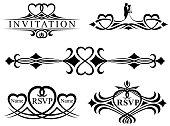 Ornate Wedding Invitation Header Scrolls
