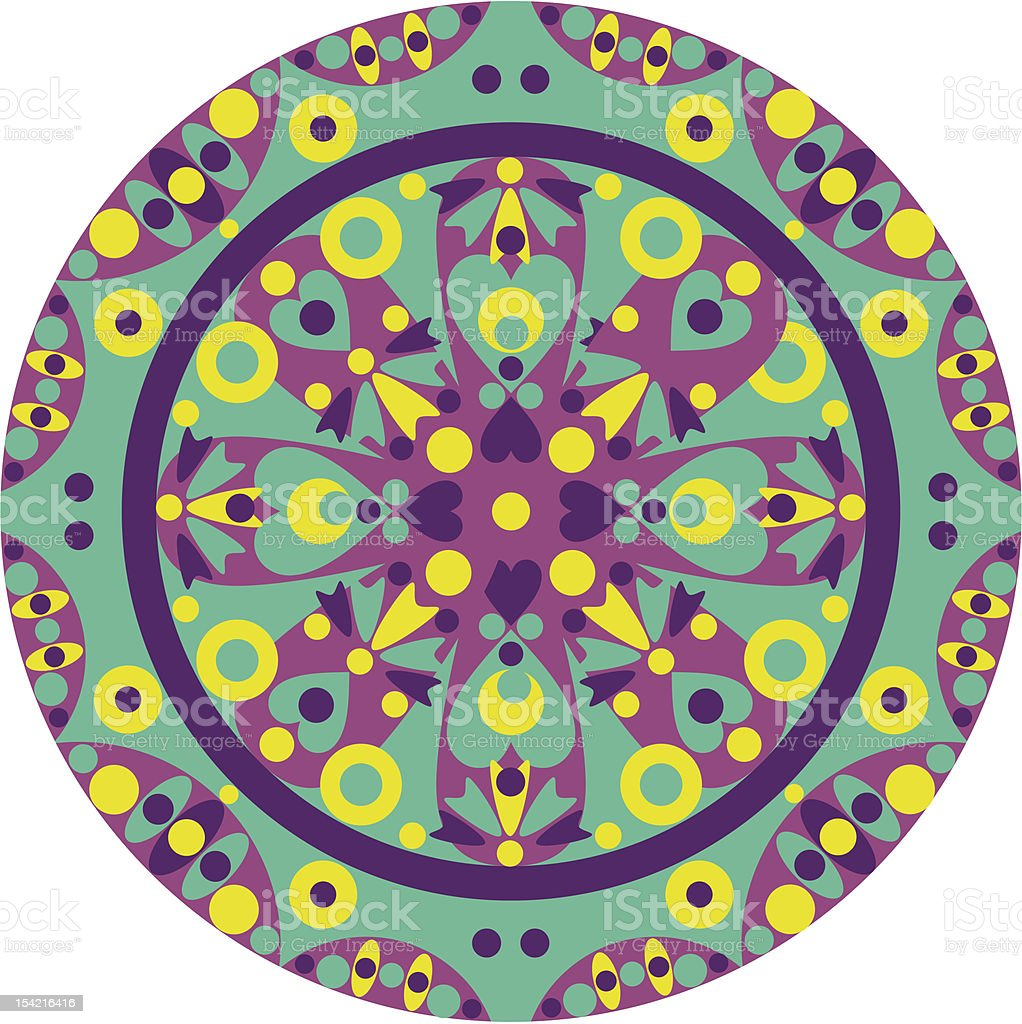 ornate-mandala royalty-free stock vector art