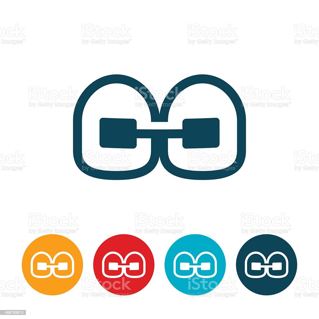 Orthodontics Braces Icon vector art illustration