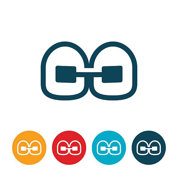 ilustraciones, imágenes clip art, dibujos animados e iconos de stock de icono orthodontics frenillos - ortodoncista