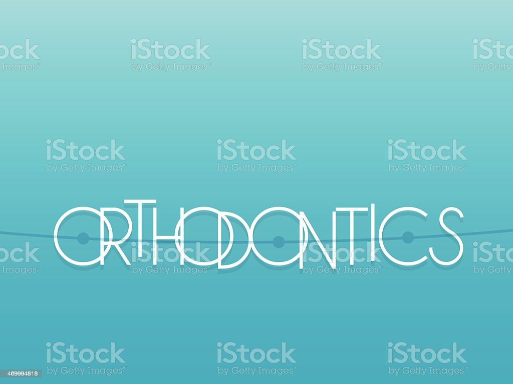 Orthodontics vector art illustration