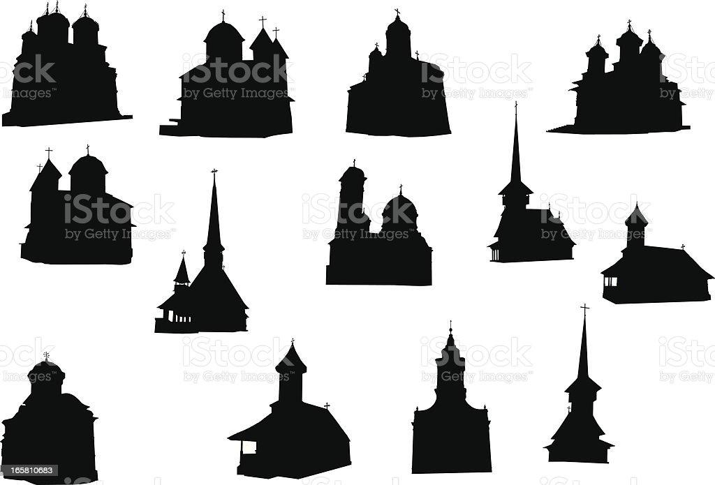 Orthodox churches royalty-free stock vector art
