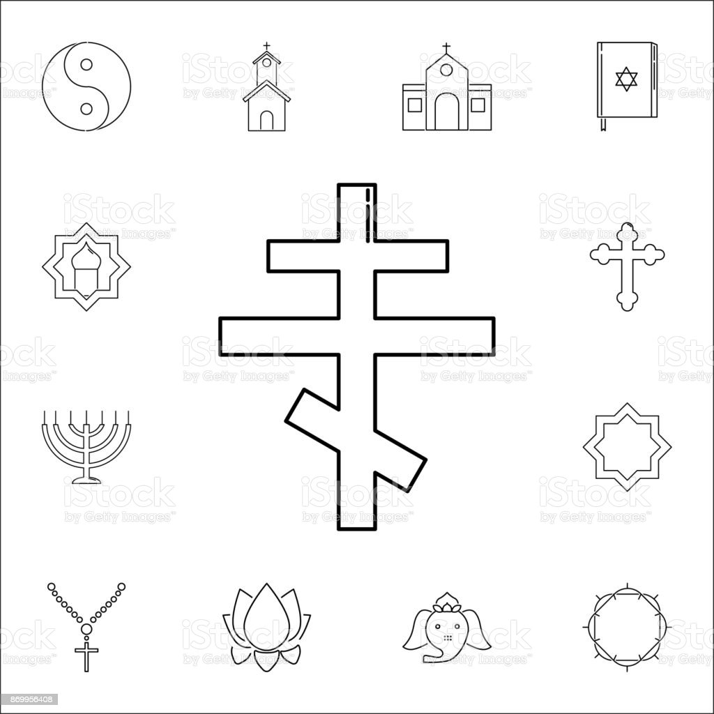 Orthodox Cross Icon Set Of Religion Icons Web Icons Premium Quality