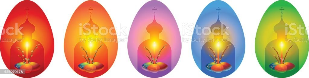 Orthodox easter greeting cards in shape of egg stock vector art orthodox easter greeting cards in shape of egg royalty free orthodox easter greeting cards in m4hsunfo