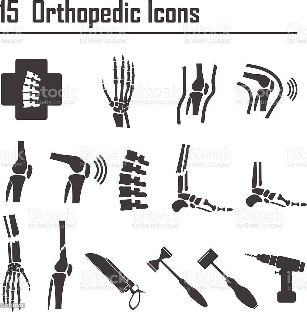 15 Orthopedic and spine symbol - vector illustration vector art illustration
