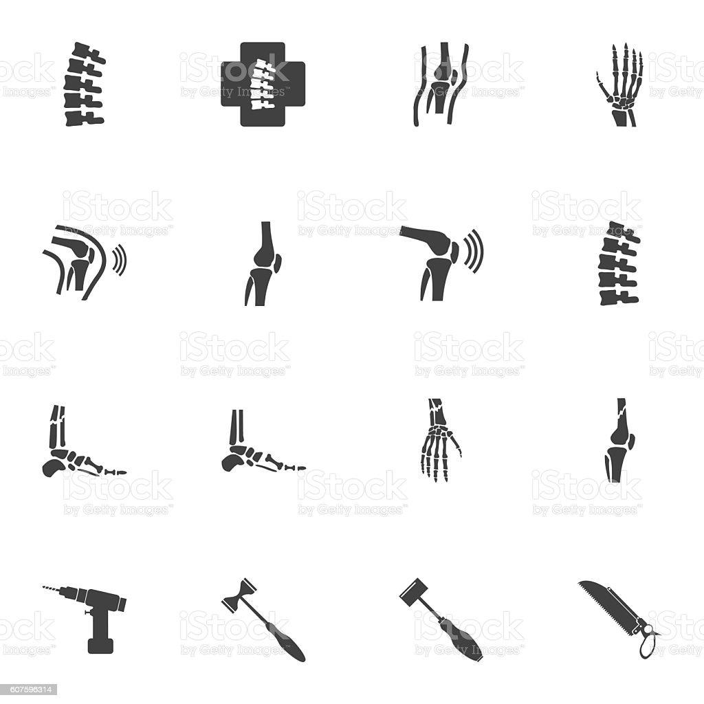 Orthopedic and spine symbol - vector illustration vector art illustration