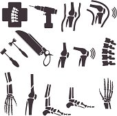 Orthopedic and spine symbol. vector  illustrations EPS10