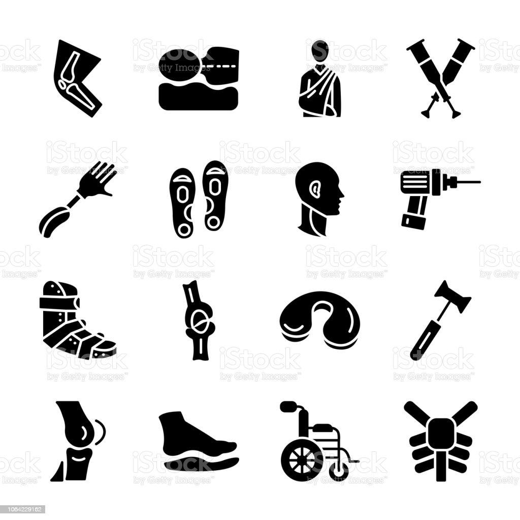 Orthopedic elements vector art illustration