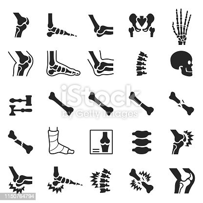 Orthopedic icon set