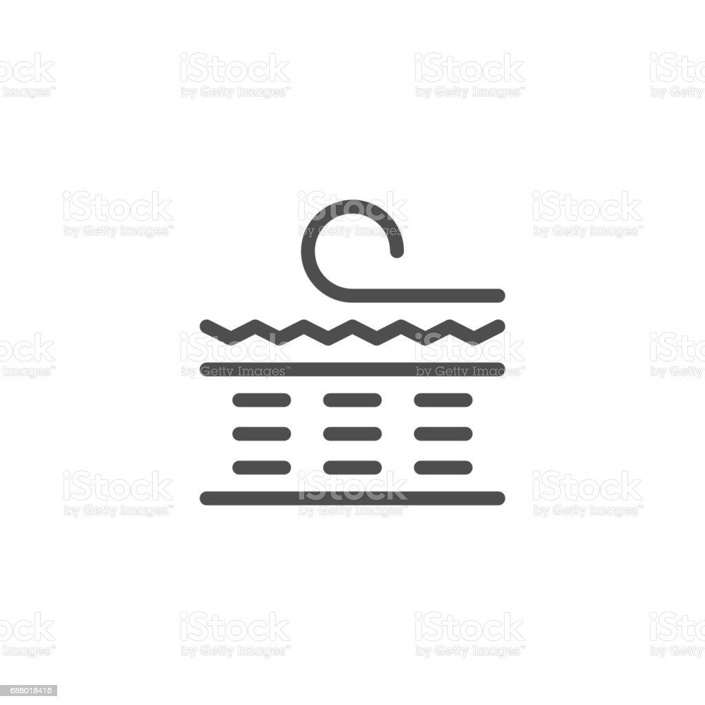 Orthopedic mattress scheme line icon vector art illustration