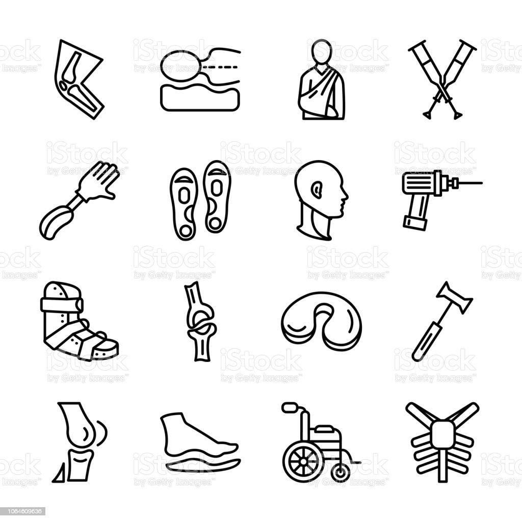 Orthopedic Vector Elements Set vector art illustration