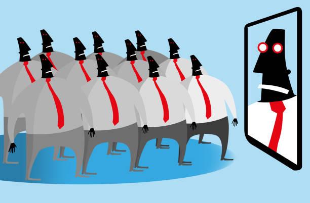 Orwellian world vector art illustration