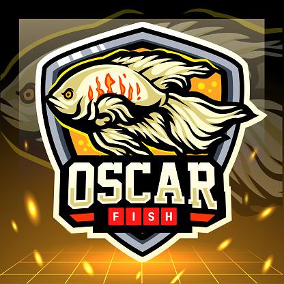 Oscar fish mascot. game icon design