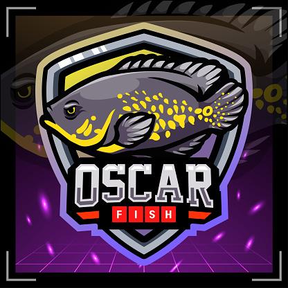 Oscar fish mascot.