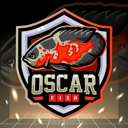 Oscar tiger fish mascot.  design